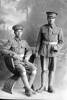 two Privates of the New Zealand Maori Pioneer Battalion, one is Private Richard Abraham, Reg No 16/1397, of the 5th Maori Contingent.