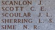 John's name is on Lone Pine Memorial to the Missing, Gallipoli, Turkey.