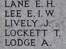 James Lively's name is on Chunuk Bair New Zealand Memorial to the Missing, Gallipoli, Turkey.