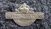 Returned Services Association Badge of Horace Alp.