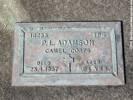 Grave of Percy Lorenzo ADAMSON,  Photographed 25 April 2018 ©Sarndra Lees