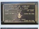 GP Capt RAF 41844 Colin F GRAY; DSO, DFC & 2 Bars; 1939-1945 R.A.F.; Died 1 Aug 1995 aged 80yrs