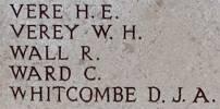 Douglas Whitcombe's name is on Chunuk Bair New Zealand Memorial to the Missing, Gallipoli, Turkey.