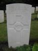 D I Porteous headstone at Braemar Cemetery England
