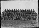 Men of the 14th Light Ack-Ack Regiment, including Reginald Boss. Photo may have been taken in Waihi in 1941, prior to embarkation for the Middle East.