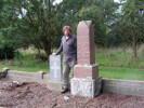 Standing beside my great uncle TA Munro's NZEF Headstone Mangaweka Cemetery.