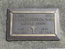 Grave plaque of 3/258 Corporal Richard Alexander HENDERSON MM  Photographed 25 April 2018 Waikumete Cemetery, Auckland, New Zealand ©Sarndra Lees