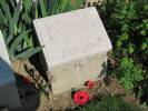 Memorial marker to George WILLIAMS Photographed 24 April 2015 during walk to attend 100th Commemoration service at Anzac Cove on the 25th.