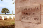 A recent (June 2017) photograph of the entrance to Caterpillar Valley Cemetery and New Zealand Memorial
