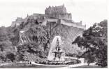 Valentine's postcard of Edinburgh Castle and Ross Fountain