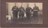 Photograph of Captain Thomas Wyville Rutherfurd, Lt Col George Griffiths, Major Frederick Starnes, Major Norman Shepherd, Sling Camp, Jan 1918.