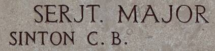 Charles Sinton';s name is on Chunuk Bair New Zealand Memorial to the Missing, Gallipoli, Turkey.