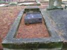 Tombstone photographed on wrong plot (earthquake error?)