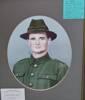 colourised head and shoulder portrait,