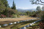 Bourail War Cemetery, New Caledonia. The Memorial to the Missing is in the background.