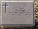 Grave marker, Skew Bridge Cemetery, Helles, Gallipoli