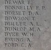 Arthur's name on plaque, Caterpillar Valley New Zealand Memorial to the Missing, Longueval, Somme, France.