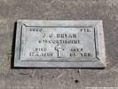 Grave of John George BRYAN 5990 Photographed 25 April 2018 Waikumete Cemetery, Auckland, NZ ©Sarndra Lees