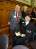 Fred with his old shipmate Jim whom he had not seen in 70 years