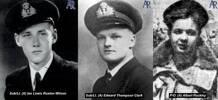 Sub/Lt. (A) Ian Lewis Ruxton Wilson , Sub/Lt. (A) Edward Thompson Clark, P/O. (A) Albert Rockley