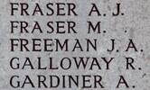 Joseph's name is on Chunuk Bair New Zealand Memorial to the Missing, Gallipoli,Turkey.