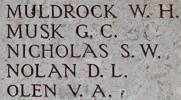 Stanley's name is on Chunuk Bair New Zealand Memorial to the Missing, Gallipoli,Turkey.