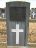 Services plaque, granite headstone