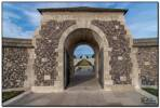 Entrance to Tyne Cot Cemetery & Memorial to the Missing, Zonnebeke, West-Flanders, Belgium.