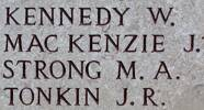 Martin's name is on Chunuk Bair New Zealand Memorial to the Missing, Gallipoli, Turkey.