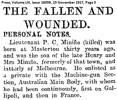 Newspaper cutting: Press (Canterbury), 15 November 1917