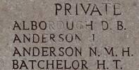 James's name is on Chunuk Bair New Zealand Memorial to the Missing, Gallipoli, Turkey.