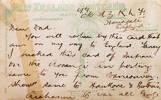 Post Card sent to Te Karehana Gardiner.