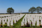 The Caterpillar Valley Cemetery, Longueval in France where Gnr W H Mathias is buried