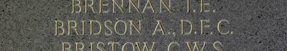 Allan Bridson's name is inscribed inside Runnymede Memorial.