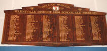 Helensville District High School (Kaipara College) Roll of Honour (photo G.A. Fortune April 2010) - Image has All Rights Reserved