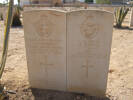 Dual grave, Halfaya Sollum War Cemetery, Egypt (photo B. Coutts, 2009) - This image may be subject to copyright