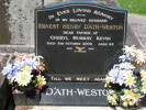 Headstone, Ernest D'Ath-Weston, Hillsborough Cemetery (photo provided by Sarndra Lees 2010) - This image may be subject to copyright