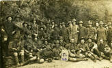 Group, No 23 Platoon F Company, 18th Reinforcements. 28th September 1916 postcard stamped front - No known copyright restrictions