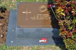 Gravestone at UN Cemetery Pusan, Korea for 203572 James Scahill. No Known Copyright.