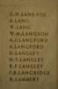 Auckland War Memorial Museum, World War 1 Hall of Memories Panel Lane-Fox, G.H. - Lambert, R. (photo J Halpin 2010)