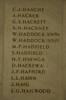 Auckland War Memorial Museum, World War 1 Hall of Memories Panel Haache, C.J. - Hailwood, E.G. (photo J Halpin 2010)