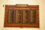 Mangere District War Memorial Honours Board, 1939-1945, 23 Domain Rd, Mangere Bridge, Auckland 2022. Image provided by John Halpin 2012, CC BY John Halpin 2012