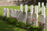 Headstone of Private Alexander Baird (14050). Kandahar Farm Cemetery, Heuvelland, West-Vlaanderen, Belgium. New Zealand War Graves Trust (BEBW1326). CC BY-NC-ND 4.0.