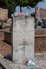 Headstone of Second Lieutenant John Herbert Cock. Beaumont Communal Cemetery, France. New Zealand War Graves Trust (FRBX6794). CC BY-NC-ND 4.0.