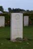 Headstone of Sapper Merlin Owen Pascoe (1511). La Neuville British Cemetery, Corbie, France. New Zealand War Graves Trust (FRJB5400). CC BY-NC-ND 4.0.