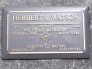 Headstone of Gnr Herbert Spencer WATSON 74689. Port Chalmers RSA Cemetery, Dunedin City Council, Block SFP18. Image kindly provided by Allan Steel CC-BY 4.0.
