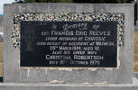 Headstone of Sgt Francis Eric REEVES 493547. Andersons Bay General Cemetery, Dunedin City Council, Block 174, Plot 45. Image kindly provided by Allan Steel CC-BY 4.0.
