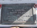 Headstone of Pte Adrian ANDREWS 65248. Andersons Bay General Cemetery, Dunedin City Council, Block 268, Plot 45. Image kindly provided by Allan Steel CC-BY 4.0.