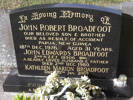 Headstone of L/Cpl John Edwards BROADFOOT 19506. Andersons Bay General Cemetery, Dunedin City Council, Block 269B82. Image kindly provided by Allan Steel CC-BY 4.0.