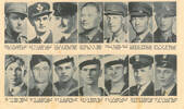 Free Lance Roll of Honour Portraits, from Left to Right. Lieut. A.H. Madden, Pilot Officer, E.T. Cooper; Flying Officer, K. S. Blair; Second Lieutenant G. G. Bailey; Lieutenant I. D. Smith; Temporary Majory B. I. Bassett; Lieutenant G. M. Brandon; Sergeant S. A. Dyer; Sergeant R. J. Grenfell; Able Seaman A. G. Simpson; Able Seaman L. R. Denton; Able Seaman J. G. Scott; Assitant Engine Artificer H. H. Christie; Acting Engine Artificer G. E. Smith. New Zealand Free Lance, August 12, 1942. p. 22. Image kindly provided by Lewis Solomon (January 2021).